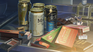 百香里の部屋の空き缶