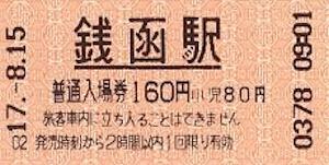 銭函駅切符