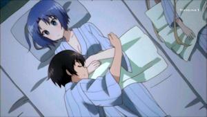 ルースに抱きつく孝太郎