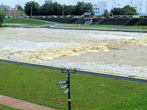 豊平川増水
