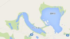 タンネ沼と音根沼の地図