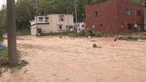 氾濫した真駒内川