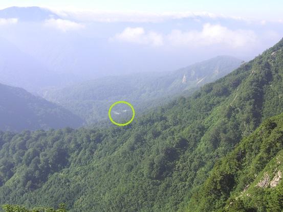 ○の中は、登山口・・