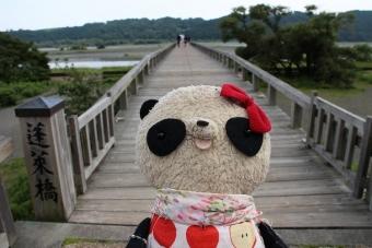 おばぶ長ーい蓬莱橋にて02