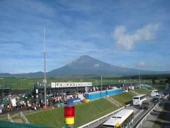 8月朝の富士山