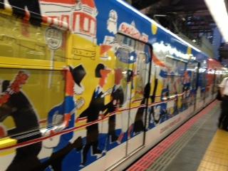 大阪、電車。