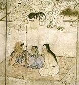 久隅守景(くすみもりかげ)が描いた『納涼図屏風(びょうぶ)』