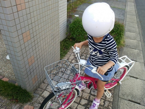 自転車練習 (2)