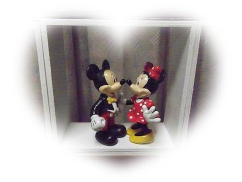 20140820 飾り棚ミッキー&ミニー
