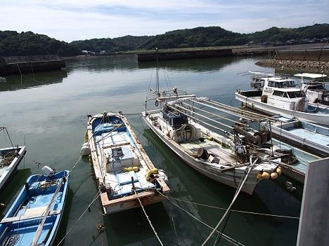 2014台風前の船
