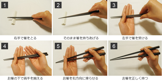 箸の取り方