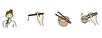 ねぶり箸 なみだ箸 渡し箸 寄せ箸