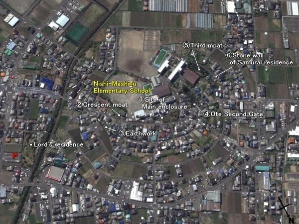 Tanaka Castle location