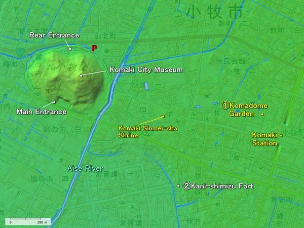Komakiyama Castle location