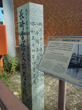 長崎電話交換局乃跡