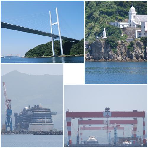 女神大橋&神の島&長崎造船所