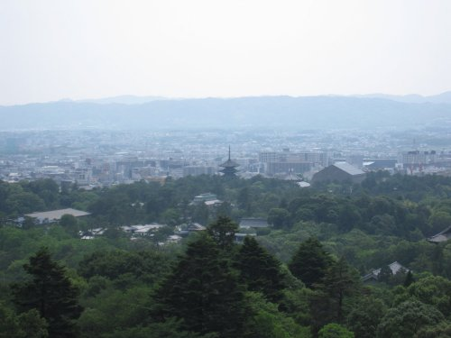 若草山から五重塔