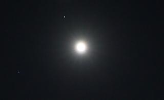 満月、火星、スピカ