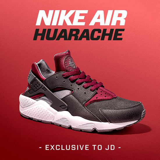 "Nike Air Huarache ""Black & Burgundy"""