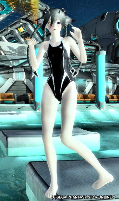 プールに入るんなら、ちゃんと準備運動しないとね♪