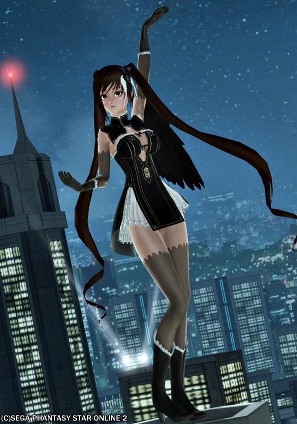 摩天楼に降り立つ黒の天使