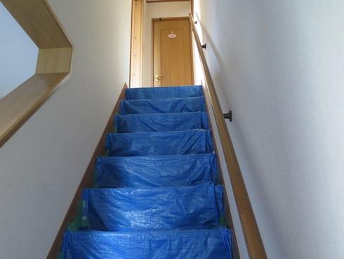 9)青い階段