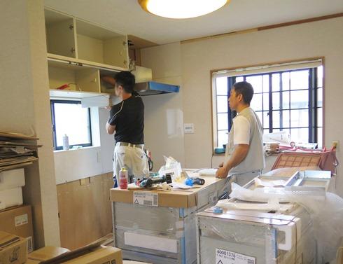 9)キッチン設置