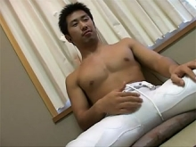 ゲイ動画:サポーター姿のエロ尻男児ムンムン射精 !! 好帥哥