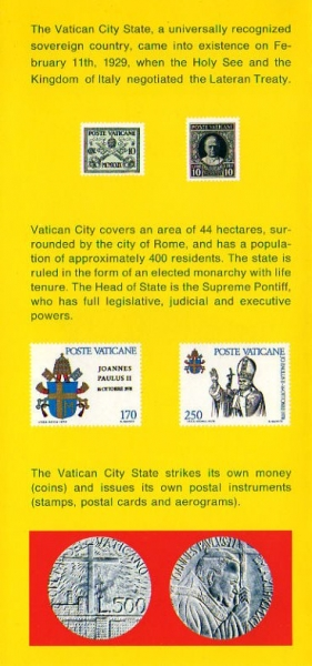 VATICAN CITY through ITS STAMPS