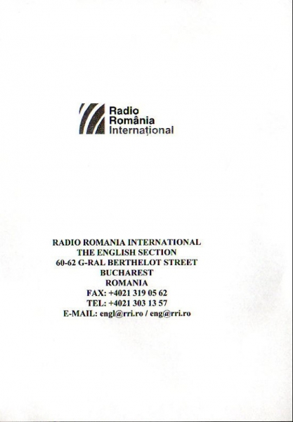 RADIO ROMANIA INTERNATIONAL BUCHAREST