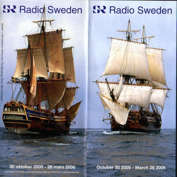 Radio Sweden October 30 2005 - March 26 2006 2005-2006年冬季スケジュール表 より