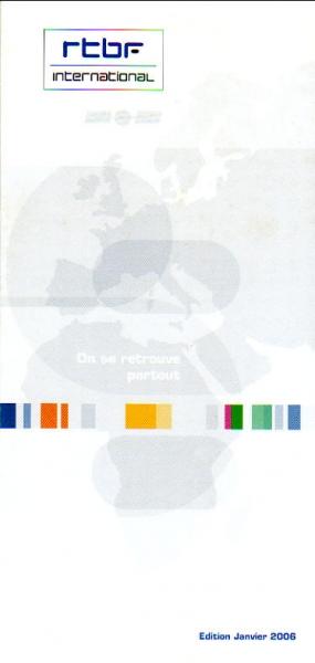 RTBF International(ベルギー・フランス語放送) Edition Janvier 2006