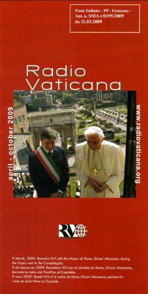 Radio Vaticana april-october 2009