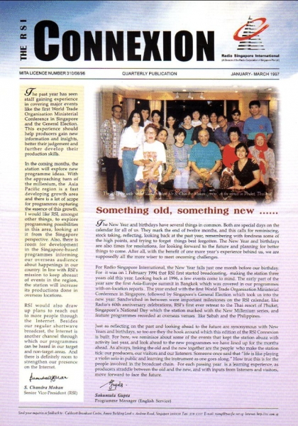 THE RSI CONNEXION JANUARY - MARCH 1997