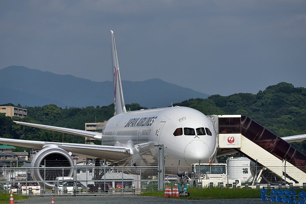 JAL B787@福岡