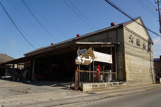 真岡駅前にある古い倉庫のカフェ