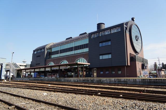 真岡駅も汽車です
