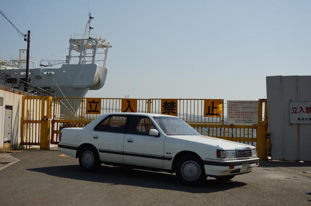 マツダV6ルーチェHCFSと横浜港