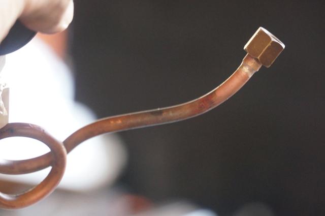 ミニSL・ライブスチームの配管部品を銀ロウ付け 完了
