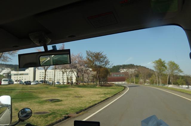 まだ、桜の咲いているグリーンピア津南