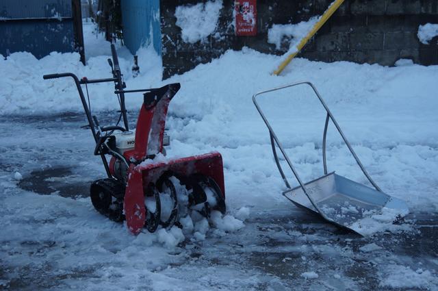 クマ武・スノーダンプと除雪ロータリー