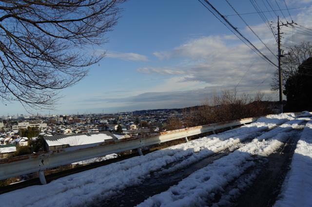 東京日野、高台の丘より午後3時