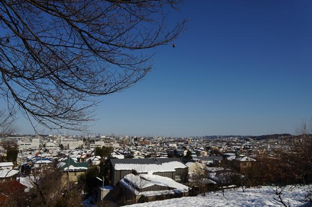 雪化粧した日野