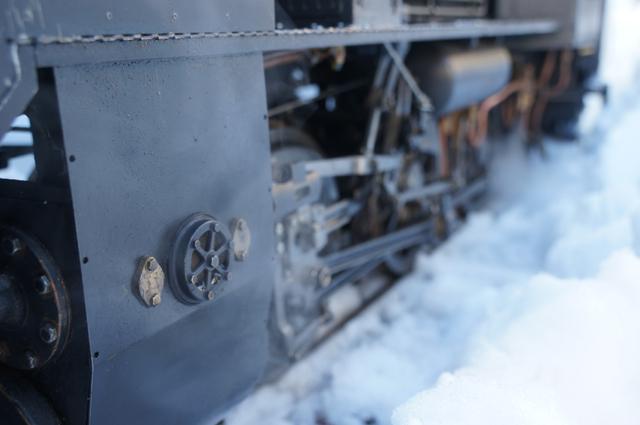 ロッドの機構美と蒸気 ライブスチーム