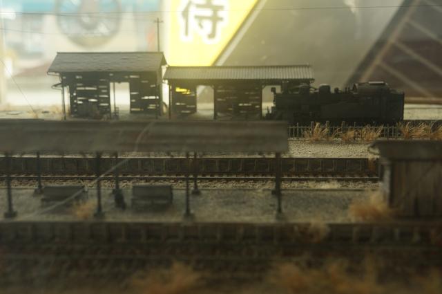 かつての真岡駅と思われる模型 いいねぇ