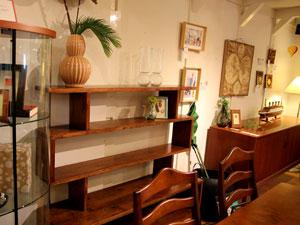 天然木 無垢材 飾り棚 オープンシェルフ シェルフ キャビネット
