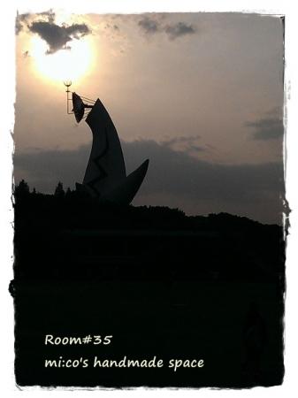 太陽の塔夕日