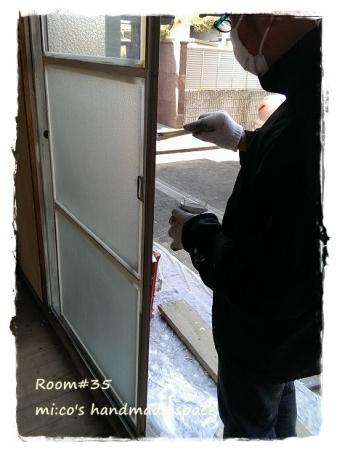 窓枠塗装1