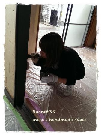 柱塗装 (2)