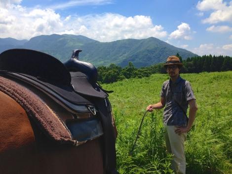 馬と絶景のお散歩